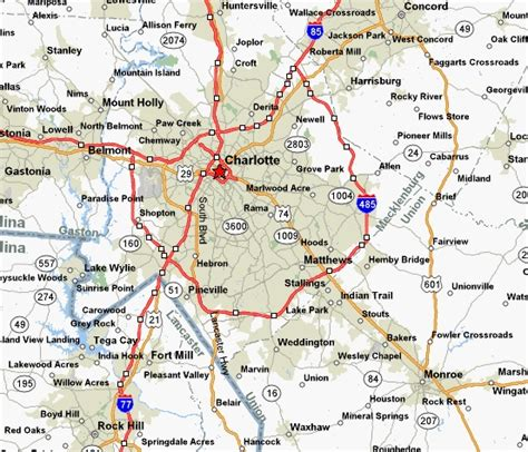 map of nc and surrounding area nc map map2