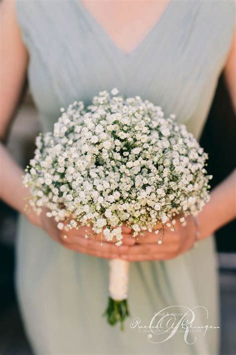 babys breath bouquet how to wrap your own bouquet wedding flowers 40 ideas to use baby s breath weddings