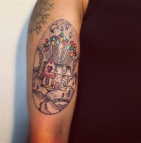 adventure is out there tattoo adventure is out there up balloon house tattoos tattoodo