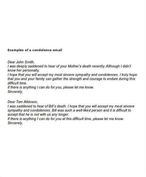 leave letter format for condolence sle formal condolence message image collections