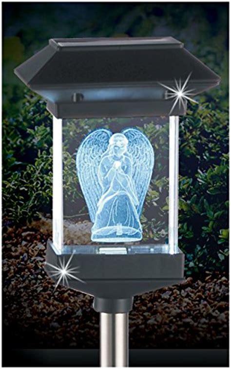 14 Quot Solar Led Memorial 3d Crystal Light Guardian Angel Solar Powered Memorial Lights