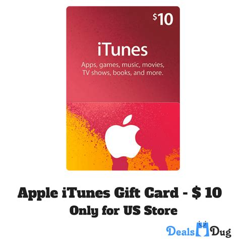 Itunes Gift Card 10 Usd - apple itunes gift card us 10 dealsdug