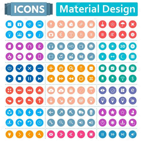 material design icon vector universal set of icons in the style of material design