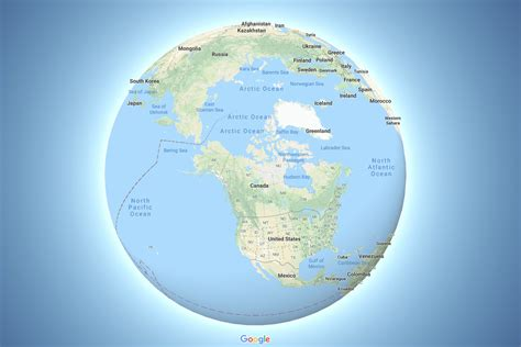 google maps  depicts  earth   globe  verge