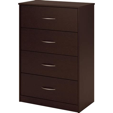 4 Draw Dresser 4 drawer dresser chest bedroom furniture black brown white storage wood modern ebay