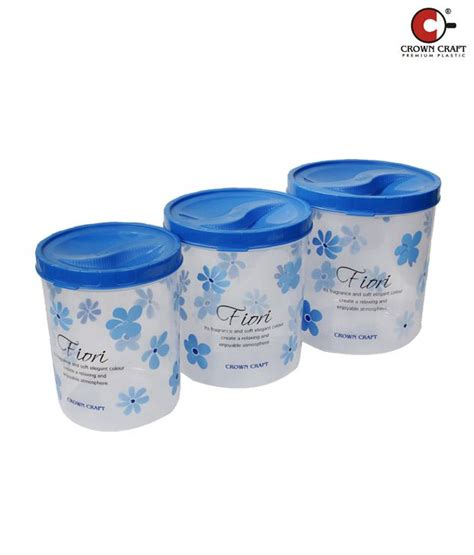 Crispy Storer Tupperware 1 crown craft blue jumbo crispy container set of 3 buy