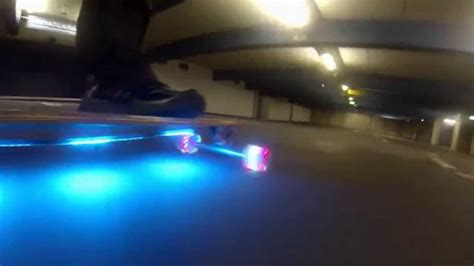 longboard led light kit longboard with flare led wheels and rgb led bottom