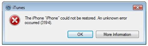 how to fix error 3194 in itunes when you restore or update iphone or