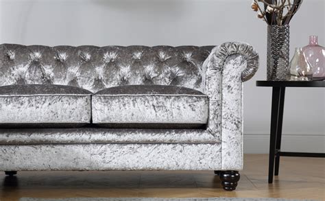 grey fabric chesterfield corner sofa hton silver crushed velvet chesterfield corner sofa