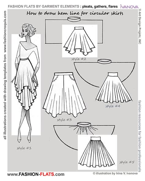 fashion illustration flat drawing how to draw flare