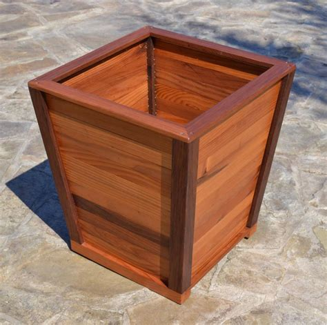 The Tapered Planters Built To Last Decades Forever Redwood Redwood Planter Box