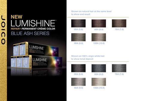 joico color chart joico lumishine blue ash series color charts