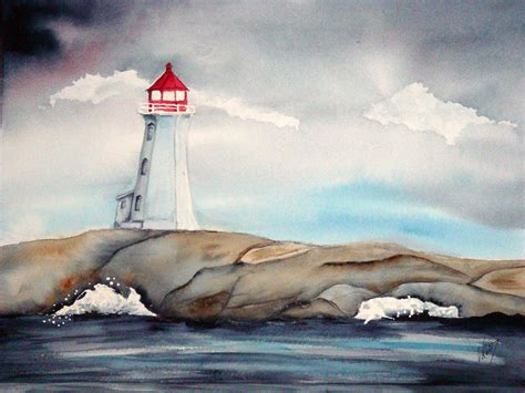 Lighthouse House Plans Lighthouse Painting By Veronica Reid Donald