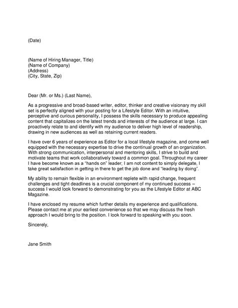 cover letters for writers writer cover letter
