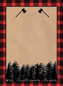 lumberjack invitation free printable paper trail design