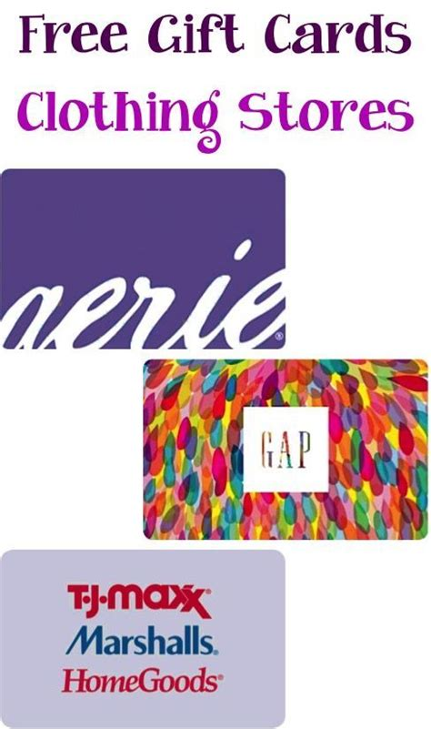How To Earn Free Gift Cards - how to earn free clothing store gift cards such a simple way to save big on back to