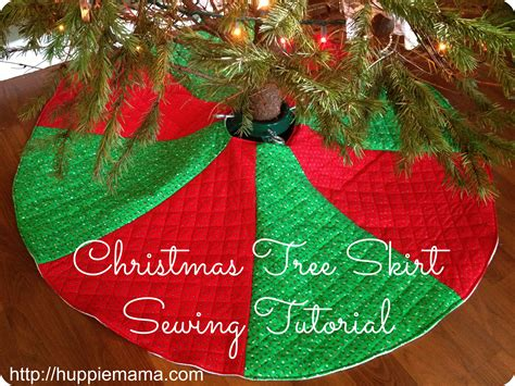 christmas tree skirt sewing tutorial carrie rose