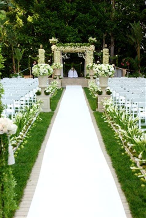 wedding aisle on grass beverly garden ceremony opulent ballroom reception