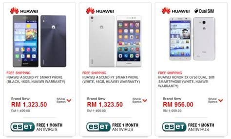 compare mobile phone price in malaysia tablet huawei ascend p7 honor 3x and mediapad x1 malaysian