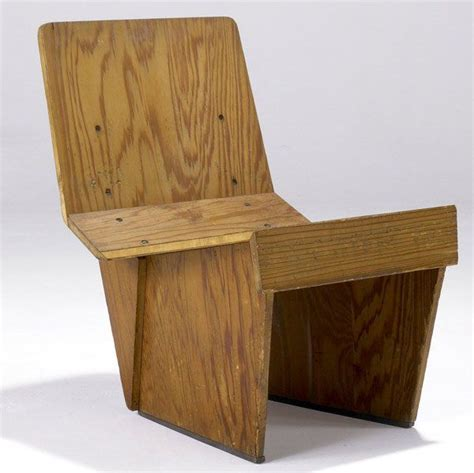 wright woodworking frank lloyd wright tidewater cypress plywood chair for