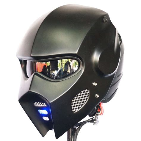 iron man helmet design casco matt black iron man motorcycle helmet hero cosplay