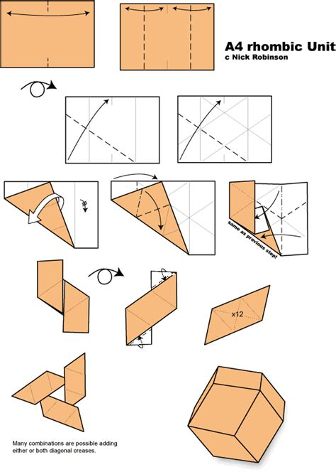 Origami With A4 Paper - unit origami diagrams unit free engine image for user