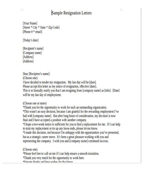 Resignation Letter Sle Bpo 32 resignation letters in pdf free premium templates