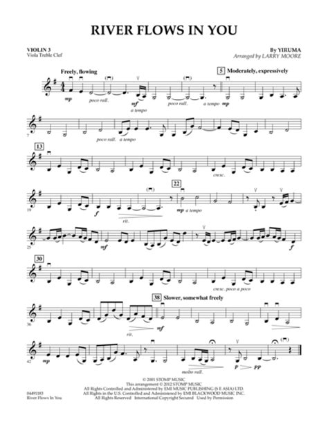 tutorial guitar river flows in you piano sheet music free download river flows in you