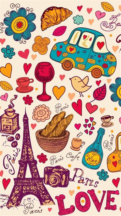 wallpaper doodle pink paris doodle paris pinterest facebook amor and