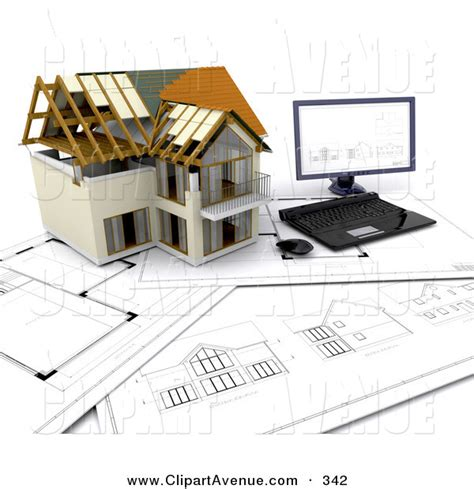 home design story for computer avenue clipart of a partially built two story house and a