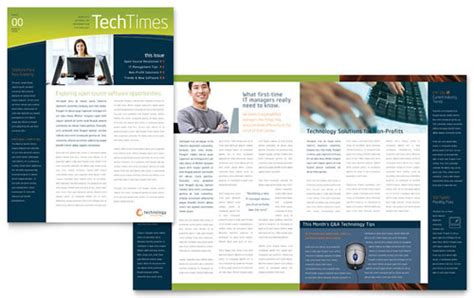 indesign templates newsletter free techtimes free newsletter template free indesign