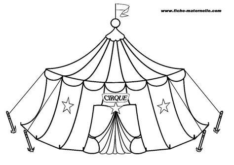 cirque colouring pages