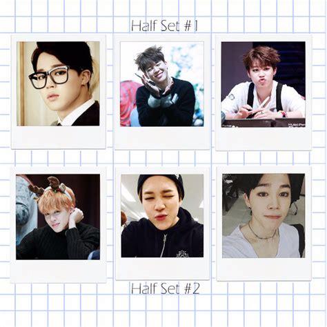 bts line dcard maknae line bts photocard polaroid set jimin taehyung