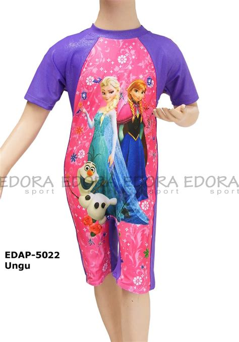 Baju Renang Anak Gambar Frozen baju renang diving karakter edap 5022 ungu distributor dan toko jual baju renang celana alat