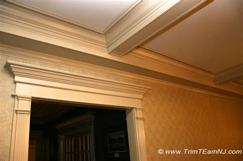 Coffered Ceiling Molding Coffered Ceilings And Beams Traditional Living Room