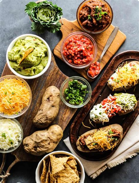 Baked Potato Toppings Bar by Easy Southwest Baked Potato Bar A Brighter