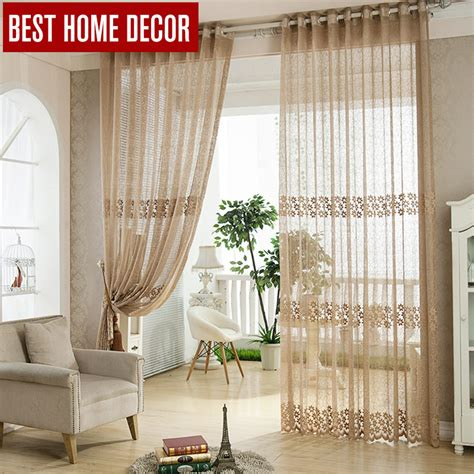 home decoration curtains aliexpress buy best home decor tulle sheer window curtains for living room the bedroom