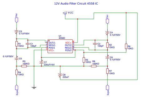 4558 tone circuit diagram bass treble circuit diagram 4558 circuit and schematics