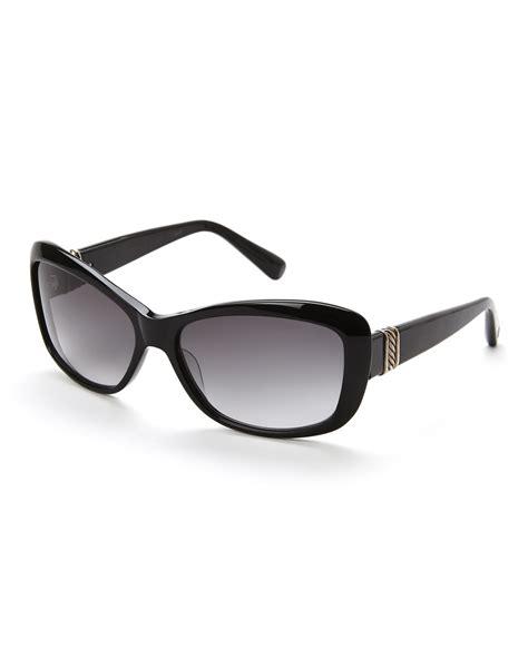 6 Gorgeous David Yurman Sunglasses by David Yurman Black Rectangular Cat Eye Sunglasses In Black