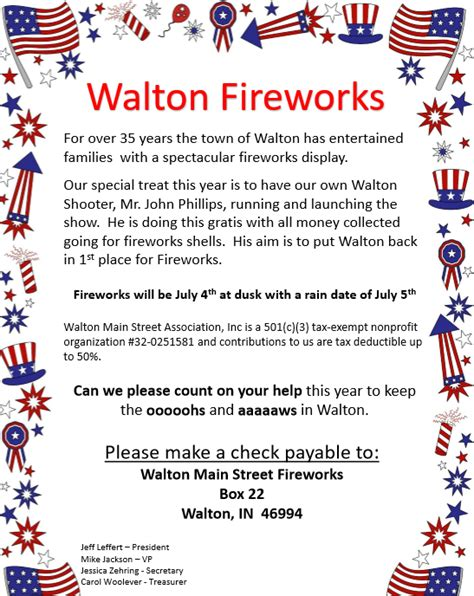 Cass County Detox by Fireworks Planned In Walton This 4th Of July