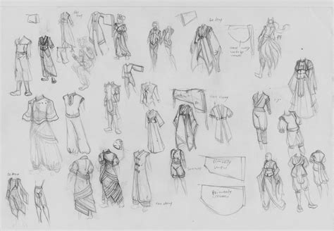 clothing sketches 2 by angiak666 on deviantart