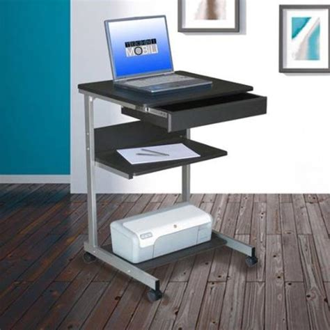 Portable Laptop Desk Mobile Rolling Storage Work Station Laptop Desk Station