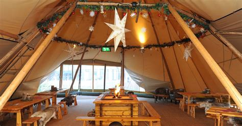 nordic tipi bar  cosy furs  mulled wine opens hull