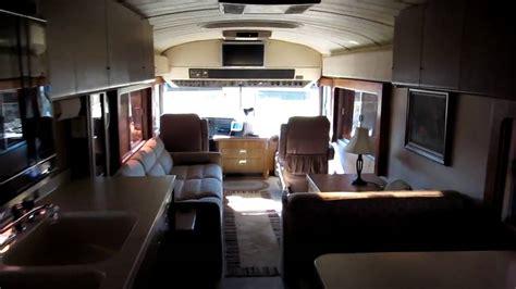 For Sale   1988 40' BlueBird Wanderlodge Motorhome. Interior Tour   YouTube
