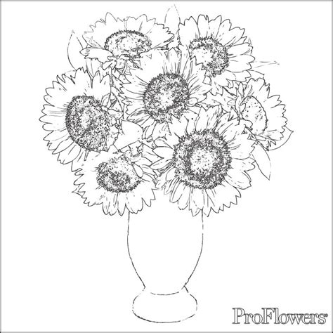 Coloring Page Of Vase With Sunflowers | beautiful blossom sunflower 17 sunflower coloring pages