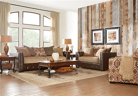 living room church eric church highway to home hickory canyon brown 5 pc