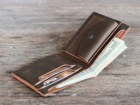 Bifold Coin Wallet s leather bifold wallet with coin pocket gifts for
