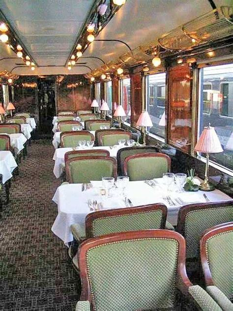 elegant dining car    train
