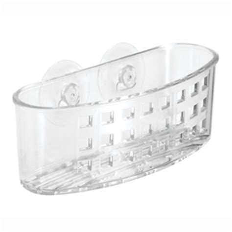 kitchen sink drainer basket clear plastic http yonkou tei net shop interdesign plastic suction sink caddy at lowes com