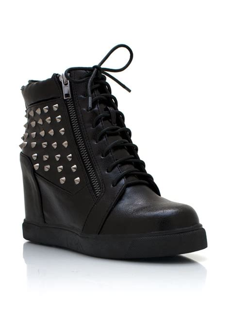 spiked wedge sneakers shoes